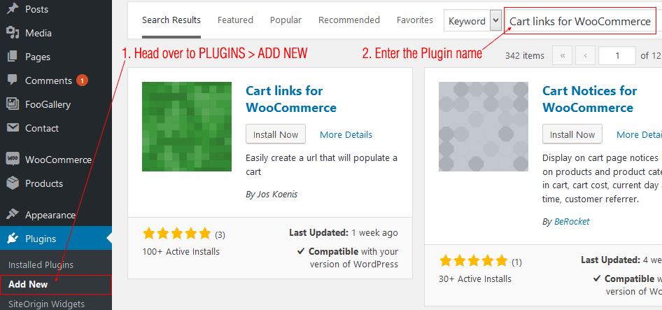 Cart links for WooCommerce - 1