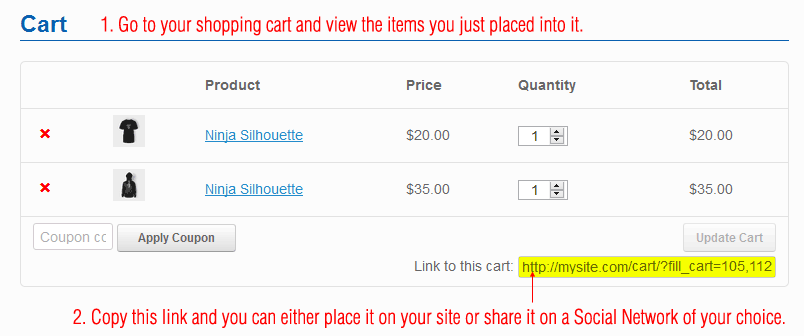 Cart links for WooCommerce - 4